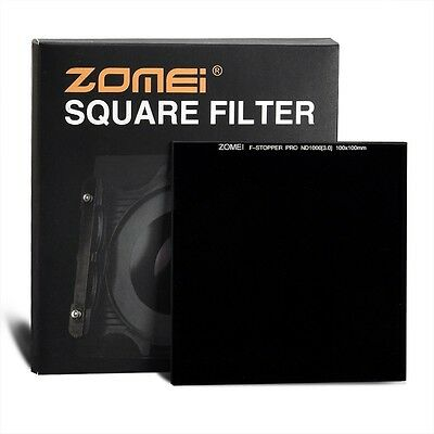 ZOMEI Pro 100*100mm ND 3.0 ND10 Stop Neutral Density Optical Glass ND1000 Filter