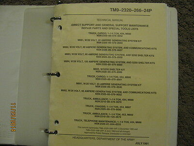 Military Book for M880 series, Parts, -24P, Used