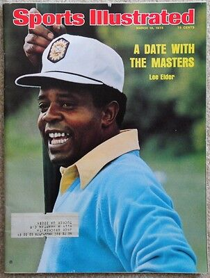 Sports Illustrated Lee Elder - Masters March 10, 1975
