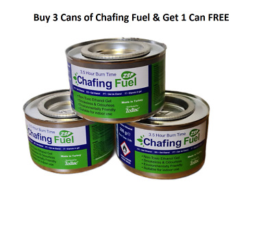 3 X Ethanol Chafing Fuel Catering 2.5 Hr burning Idea BBQ Buffet Camping Parties