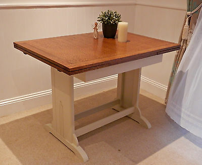 Lovely Vintage Shabby Chic Painted Extending Table F&B