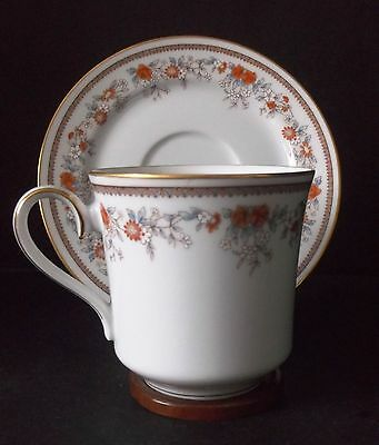 Set of 4 LENOX China RUSSET BLOSSOMS  Bouquet Collection Teacup and Saucers