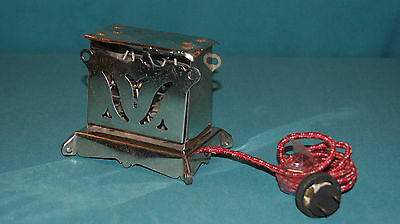 Vintage Miniature Electric Excel Toastoy Childrens Toy Toaster 1920's Works