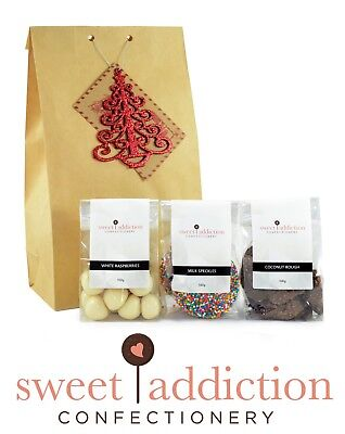 Christmas Gift Bag One - Sweet Addiction Premium Chocolate Xmas Gift Hamper