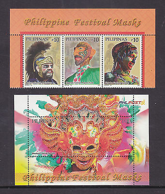 Philippines Stamps 2014 MNH Philippine Masks Festival complete set
