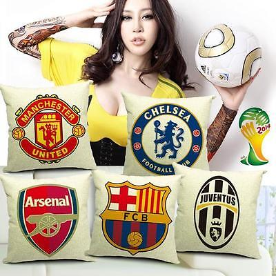 Manchester United Chelsea Arsenal FC Barcelona Juventus Cotton Throw Pillow Case