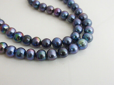 """Peacock Freshwater Potato Pearl Beads 8-9mm 15"""" Strand (approx 50 pearls)"""