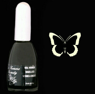 Vernis à ongles noir 15ml - Ebony de La Femme (29) black nail varnish -  polish
