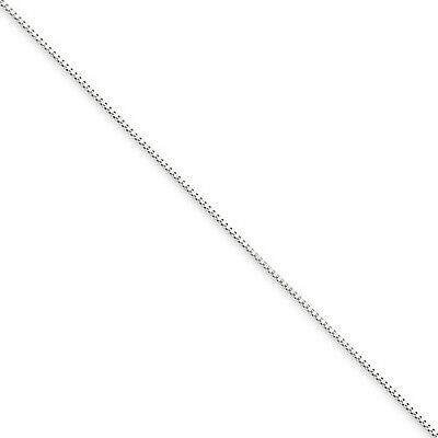 10k White Gold 18in .5mm Box Necklace Chain