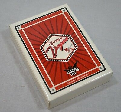 NEW SEALED Smirnoff Ice Welcome to Vegas Playing Cards Deck Poker Joker Set 52