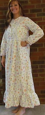 """Nightgown Soft Flannel Cotton- Always a """"Bloomin' Best Price """"Made in USA"""""""