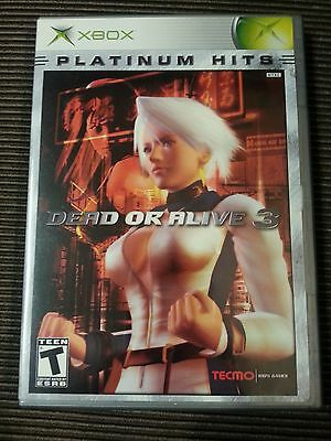 Dead or Alive 3 [Platinum Hits]  (Xbox, 2003) Complete Tested working Xbox 360