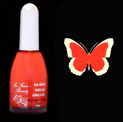 Vernis à ongles crème 15ml - Orange Cream de La Femme (108) nail varnish polish