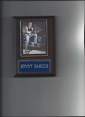 SONNY BARGER PLAQUE HELL'S ANGELS MOTORCYCLE CLUB GANG