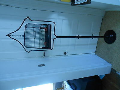 Vintage Art Deco Hendrxx  Cast Iron Bird Cage stand & Cage  Black made in U.S.A.
