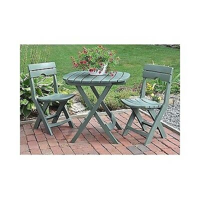 Patio Furniture Set Outdoor Deck Fold Up 3 Piece Table Chair Cafe Garden Plants