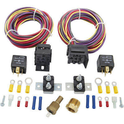 JEGS Performance Products 10570 Dual Fan Wiring Harness & Relay Kit