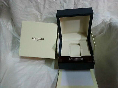 100% Authentic Brand New Longines Leather & Wood Watch Box w/Outer Box w/Pillow