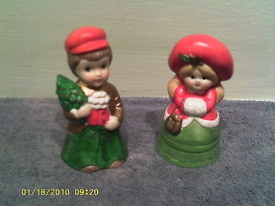 A Cute Set of Boy and Girl Christmas Bells