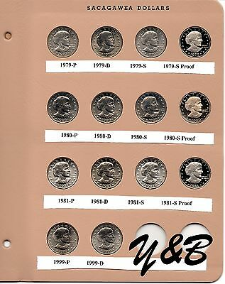 1979 1980 1981 1999 Pds Proof Susan B Anthony Dollar Complete Set Dansco