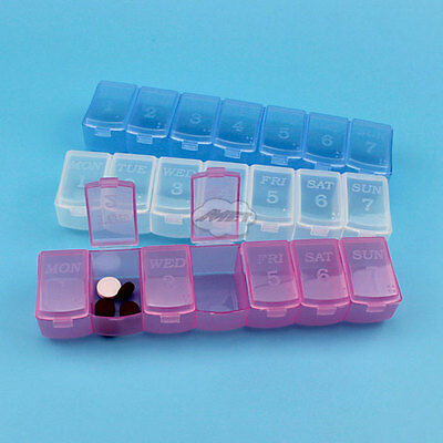 7 Day Weekly Pill Tablet Box Holder Dispenser Organizer Container Storage Case