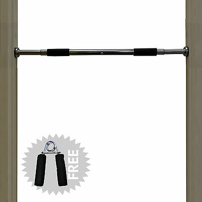 TurnerMAX Portable Chin Up Bar Home Wall Mounted Pull Up Gym Abs Door Exercise