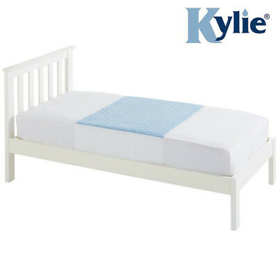 Kylie Single Bed Pad - Blue - 3 Litres - Absorbent Bed Protection