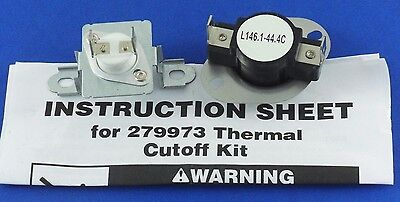 279973 - Thermal  Cut Out  Kit for  Whirlpool, Sears, Kenmore  New