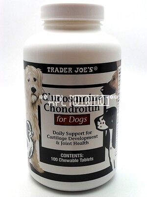 Trader Joe's Glucosamine Chondroitin for Dogs Joint Health 100 Chewable Tablets