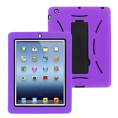 Heavy Duty Military Rugged Hybrid Case Stand For Apple iPad 9.7 2nd 3rd 4th Gen