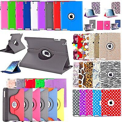 360 Premium Rotating Leather Case Cover For Apple iPad 2 3 4 2017 Mini 3 Air Pro