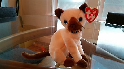 'Siam' the Siamese Cat - Ty Beanie Baby - MINT - RETIRED