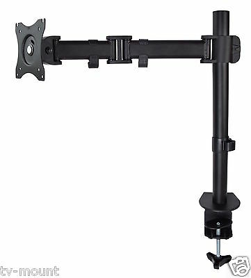 Monitor Desk Mount Stand Heavy Duty Height Adjustable Extension Swivel Arm