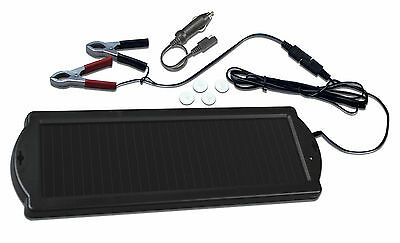 Solar Panel Trickle Charger for Car, Caravan & Boat • keeps 12V battery charged