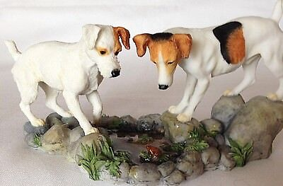 "Jack Russell Terrier Figurine ~ "" How High ""~ Border Fine Arts Dog Breed Range"