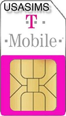 Us Usa T-Mobile Micro Sim Card For Any Phone Including Iphone And Smartphones