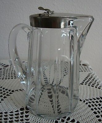 ANTIQUE HEISEY GLASS  SYRUP PITCHER PAT.1909