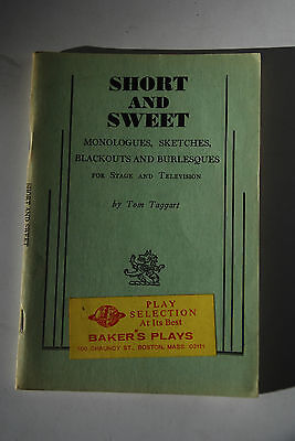 Short and Sweet - Monologues, Sketches, Blackouts, & Burlesques - 1956 S. French