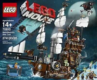 NEW & SEALED! LEGO Movie 70810 Metal Beard's Sea Cow with 4 Minifigures