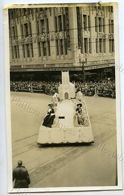 1934 Photo Centenary Of Victoria Float In Parade Leviathan Clothing Co X26