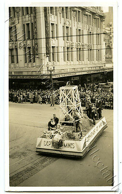 1934 Photo Centenary Of Victoria Float In Parade Leviathan Clothing Co X65