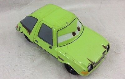 Disney Pixar Cars 2 Movie Diecast Acer #12 Yellow Lime Pacer Fixed Eyes