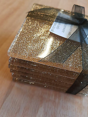 Fused Glass Sand Glitter Coasters 100 x 100mm sets of 4 or 6