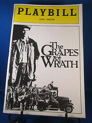 "Playbills 1990's ""THE GRAPES OF WRATH"" for The Cort Theatre May 1990 L@@K!!"