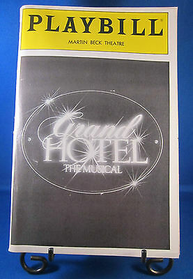 "Playbills 1990'S ""GRAND HOTEL"" The Musical for The Martin Beck Theatre May 1990"