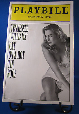 "Playbills 1990'S ""CAT ON A HOT TIN ROOF"" for The Eugene Oneil Theatre April 1990"