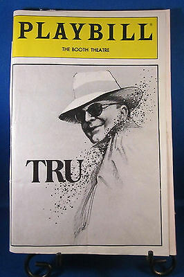 "Playbills 1990'S ""TRU"" for The Booth Theatre Works of Truman Capote May 1990"
