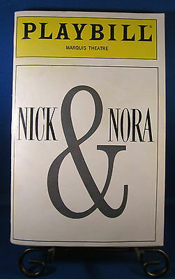 "Playbills 1990'S ""NICK & NORA"" for The Marquis Theatre December 1991 L@@K!!!"