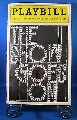 "Playbills 1990'S ""THE SHOW GOES ON"" Theatre at Saint Peter's Church February 98"