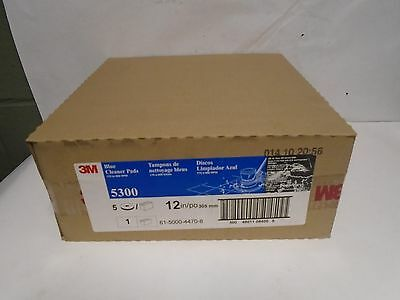 """New Lot Of 5 3M Blue 5300 Cleaner Pads 12"""" Diameter, 175 To 600 Rpm"""
